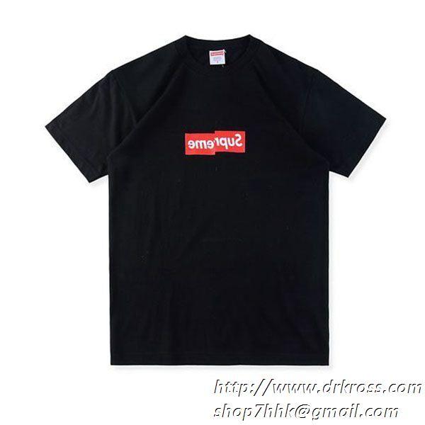通気性が良い 2色可選 tシャツ/半袖 supreme comme des garcon shirt box logo tee cdg 人気新品*超特価