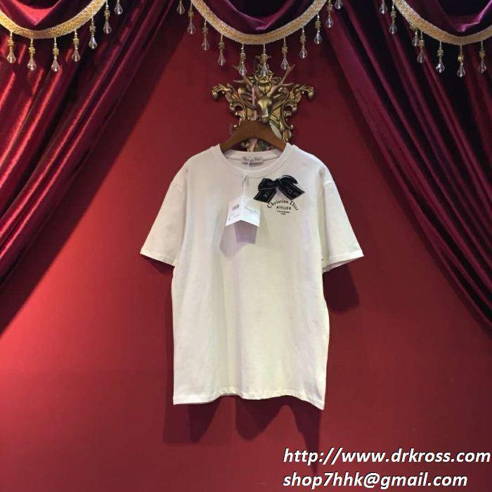 2019年春夏の流行アイテム 人気の高さがうかがえ dior ディオール 半袖tシャツ 2色可選