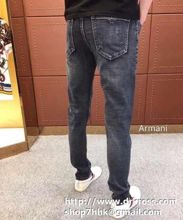 ブランド新作を先取り アルマーニ ジーンズ メンズ ファッション スタイル armani ストレートジーパン ロングパンツ