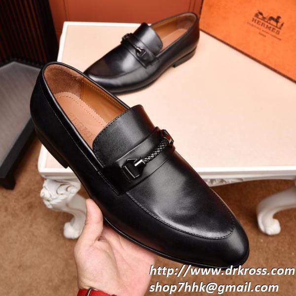 大人のための新作 エルメス スーパーコピー hermes 本革 ビジネスシューズ 紳士靴 シンプル メンズファッション 品質保証