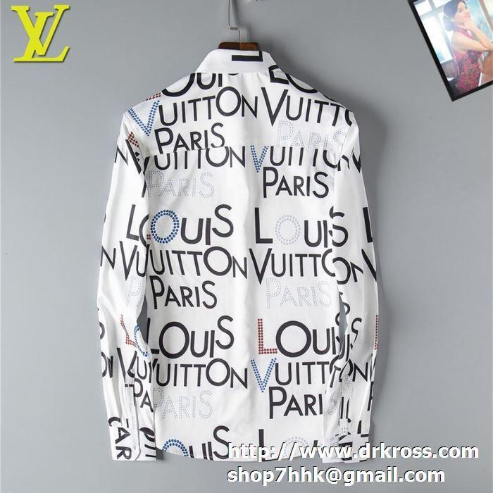 ルイヴィトン 服 メンズ コピー louis vuitton シャツ ギャラクシーコレクション 二色可選 トップス カジュアル オシャレ