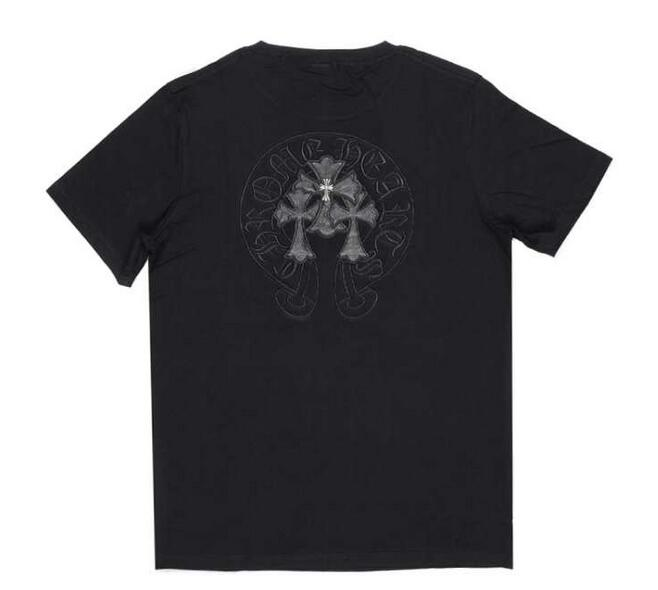 溢れきれない魅力CHROME hearts クロムハーツ ロゴプリントuネック コピー半袖tシャツ