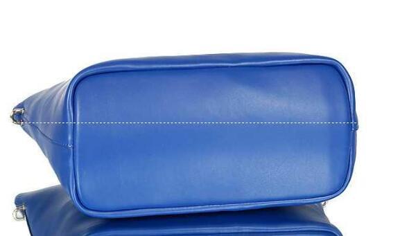 お得人気セール 新作 CHLOE バッグ レディース 高級感 クロエ 2017春夏 レザー ブルー ゴールドファスナー 高品質 トートバッグ ショルダー付き