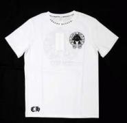 溢れきれない魅力CHROME HEARTS クロムハーツ ロゴプリントUネック コピー半袖Tシャツ_品質保証