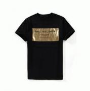 こなれ感のあるロゴに!BALENCIAGA バレンシア ガ ルーネック半袖Tシャツ ゴールド_品質保証