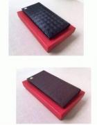 ロゴ柄エンボス型押しFERRAGAMO フェラガモ 長財布 ロゴメンズブラック長財布 二つ折り_品質保証