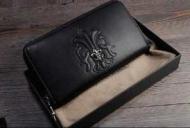 クロムハーツ 財布 芸能人愛用されたCHROME HEARTS 長財布 メンズブラック本革ウォレット_品質保証