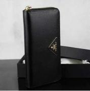ジップ式レディース長財布PRADA プラダ ブラックカーフ牛革ロングウォレット1ML506_QHH_F0002_品質保証