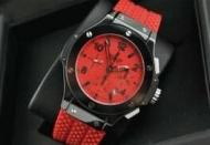 ウブロ hublot ビッグバンメンズ 時計  レッド文字盤 セラミック ラバー 日付表示自動巻き 6針 セラミック 44.5MM_品質保証