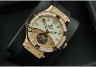 女性用 腕時計レディース 時計hublot ウブロ  ビッグバン時計 2針 機械式 手巻き 日付表示 ダイヤベゼル ゴールド38mm_品質保証