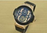 トゥールビヨン 時計hublot ウブロ クォーツ ビッグバン時計 メンズ 人気自動巻き ウォッチ  ユニーク文字盤 ラバーメンズ腕時計_品質保証