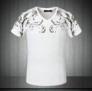 CHROME HEARTSクロムハーツ コピー 激安 トップス 人気 メンズ半袖Tシャツ Vネック キレイ目 ブラック ホワイト_品質保証