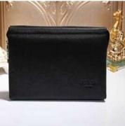 PRADA プラダ 財布 メンズ レザー ジップ式 ロングウォレットブラック 型押しヒートエンボス加工のロゴカーフ 長財布_品質保証