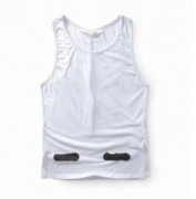 Off-White オフホワイト メンズファッションコピーブランド販売 タンクトップ ホワイト ブラック クルーネック 男性用服_品質保証