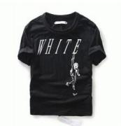 人気美品 OFF-WHITEオフホワイト 通販 ブラック半袖 Tシャツ クルーネックロゴプリント メンズTシャツ 綿_品質保証