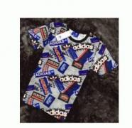 adidas アディダス tシャツ メンズファッション半袖tシャツ 英字ロゴプリント男性Tシャツクルーネック_品質保証