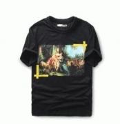 夏新品 OFF-WHITE オフホワイト Tシャツ 格安 メンズ半袖激安Tシャツ 個性派プリント クルーネック カジュアル ブラック ホワイト_品質保証