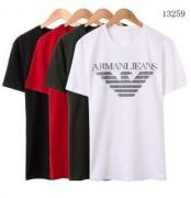 ARMANI アルマーニ 2017 メンズ半袖Tシャツ セール中 クルーネック コットンジャージー ロゴ入り 4色可選3Y6T526JPRZ12001200_品質保証