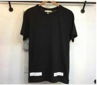 OFF-WHITE オフホワイト Tシャツ コピー ブラック ホワイト コットン プリント クルーネック 超激得大人気新作 半袖Tシャツ メンズ_品質保証