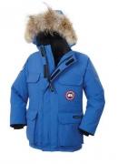 超激得高品質 CANADA GOOSE jasper カナダグース ジャスパー メンズ子供用ダウンジャケット ブルー 秋冬アウターロングコート_品質保証