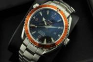 高級 OMEGA 時計 オメガ コピー シーマスター メンズ ウォッチ 腕時計 ブルー文字盤 3針クロノグラフ 日付表示 夜光効果_品質保証