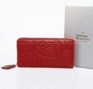 VIVIENNE WESTWOOD ヴィヴィアン ウエストウッド 財布 レザー ジップ式ウォレット 上品 レッド長財布 レディース 大人気_品質保証