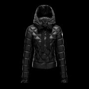 MONCLER モンクレール ダウン コピー ブラック ダウンジャケット リボン フード レディースファッション通販 高級感 コート