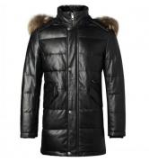 2016-17秋冬 BURBERRY バーバリー コート レザーダウンジャケット 羊革 高級感 高品質アウター レザーコート ブラック 人気