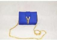 YSL イヴサンローラン バッグ コピー Yves Saint Laurent 人気セール最新作 レディース バッグ  レザー 本革  チェーンショルダーバッグ ブルー