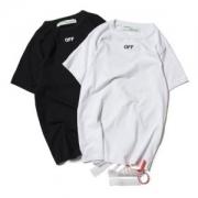 首胸ロゴ  2色可選  半袖Tシャツ Off-White オフホワイト 男女兼用 2017春夏 人気商品