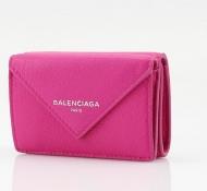 人気セール BALENCIAGA ミニ財布 バレンシアガ コピー 財布 レディース レザー 三折り財布 ピンク 本革  ウォレット 100%新品