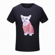 SUPREME大人気シュプリームルイヴィトン2018新作犬プリントTシャツメンズ半袖クルーネックトップス綿ホワイトブラック白
