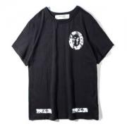 2018新作新品オフホワイトOFF WHITE 通販 正規ブラックプリントTシャツメンズ半袖コットン胸元ロゴ春夏ファッションレディース好感度120%