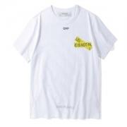 OFF-WHITE Tシャツ メンズ オフホワイト 最新作2108 FIRETAPE SLIM FIT T-SHIRT 半袖Tシャツ omaa027s181850060160 レディース 綿 黒 白 omaa027s181850061060
