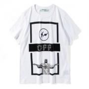 OFF-WHITE Tシャツ超激得100%新品2018オフホワイト半袖メンズコットンプリントクルーネックブラックホワイト綿大人気