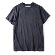 シンプル無地Tシャツ ブラッドメンズ OFF-WHITE2018オフホワイト大人気クルーネック半袖春夏服品質保証100%新品ブラックコットン