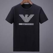 Tシャツ ブランド最前線2018ARMANI アルマーニメンズ半袖鷹プリントコットン新作クルーネック個性ホワイトブラック人気商品登場!