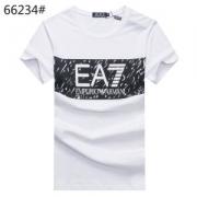 アルマーニ Tシャツ コピーARMANI男性用コットン半袖メンズ夏着心地いい個性派綿クルーネックEA7プリントロゴ配置グレーネイビーホワイト