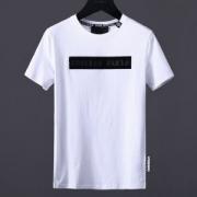 最旬トレンドフィリッププレインPHILIPP PLEIN コピーTシャツブラックボックスロゴメンズクルーネックトップスブラック綿ホワイト大人気半袖