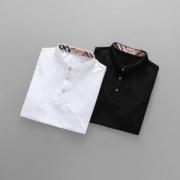 メンズ人気新作ポロシャツ ブラッドBURBERRY半袖バーバリー2018ロゴプリントチェック定番ホワイトレッドトップスブラックホワイトコットン