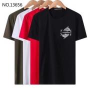 新作新品EMPORIO ARMANIアルマーニ大人気カーププリント半袖Tシャツジャージーコットンクルーネックメンズ用トップス3Z1T6V1JQ4Z10337ブラック多色