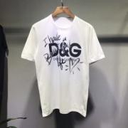 超人気美品DOLCE&GABBANATシャツ メンズ おすすめ最安価格新品ドルチェ&ガッバーナホワイトコットンプリントロゴクルーネック男女兼用
