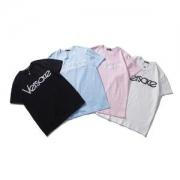 tシャツ デザイン コピー数量限定定番人気ヴェルサーチロゴプリントコットン生地tシャツリゾート感ソフト4色選べるカラーシャツ