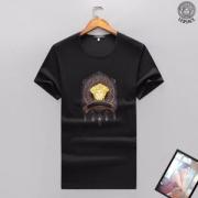 ヴェルサーチ tシャツ 偽物人気定番品質保証ブラックホワイト大きいサイズ男性tシャツおしゃれ半袖春夏新作メンズtシャツ