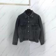 バレンシアガ コピー 激安リラックス感速乾性デニムジャケット冬場強い味方シンプルロックかっこいいロゴ付きジャケット