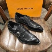 現地でついに発売 ルイヴィトン ジーンズ コピー Louis Vuitton  本革 ビジネスシューズ 紳士靴 チェック柄 二色可選 品質保証