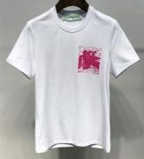 大胆に取り入れたスタイル  2019トレンドスタイル!  半袖Tシャツ      オフホワイト OFF-WHITE  2色可選