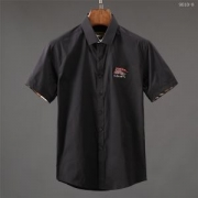 バーバリー ポロシャツ メンズ BURBERRY コピー 三色可選 チェック柄 シャツ ブラック オシャレ 通勤 通学 普段着 ゆったり