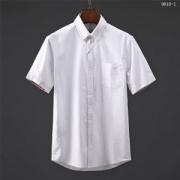 バーバリー 半袖 コピー BURBERRY 数量限定セール 二色可選 トップス 白シャツ シンプル カジュアル 通気性 通勤 通学