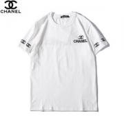 シャネル Tシャツ メンズ コピー CHANEL半袖 ホワイトトップス ロゴ プリント ストリート 快適な ゆったり カジュアル